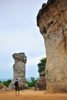 Free Large Rock Formations In A Park Valley Royalty Free Stock Image - 19708076