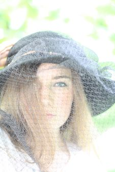 Free Girl In The Black Hat Stock Photo - 19708160