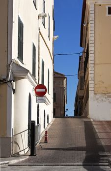 Free Narrow Street In Minorca - RAW Format Royalty Free Stock Image - 19708256