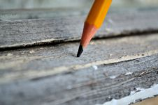 Free Pencil On The Board Stock Photo - 19708450