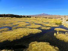 Uturunku Volcano, Altiplano, Bolivia. Royalty Free Stock Image