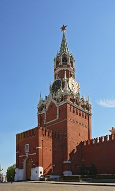 Clock Tower Of The Kremlin Stock Images