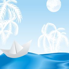 Free Tropical Island In The Azure Waves Royalty Free Stock Images - 19709329