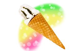 Free Wafer Cone With Ice Cream Stock Photos - 19709933