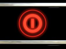 Free Red Shone The Button Stock Image - 19709961
