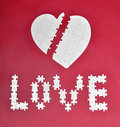 Free Love And Broken Heart Puzzle Stock Image - 19710491