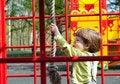 Free Boy Having Fun In Playground Stock Photography - 19714112