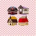 Free Cartoon House Card Stock Photo - 19714410