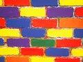Free Brick Wall Painted Children Stock Photos - 19716333