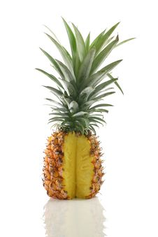 Free Fresh Tasty Pineapple Isolated On White Background Stock Photos - 19710153