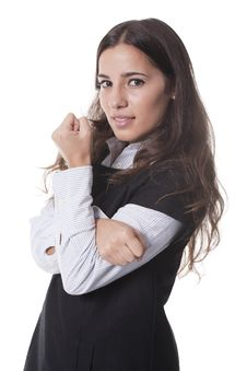 Free Woman With Arms Crossed Royalty Free Stock Photography - 19710347