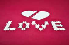 Free Love Broken Heart Puzzle Stock Photo - 19710510