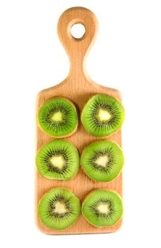 Free Slices Of Kiwi On The Cutting Board Stock Images - 19710584