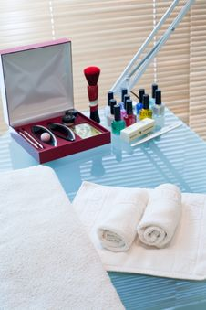 Manicure Room Royalty Free Stock Photography