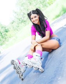 Free Woman On Roller Skates Stock Images - 19712114