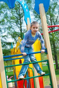 Free Girl Having Fun In Playground Stock Photo - 19714130