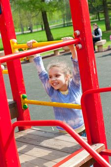 Free Girl Having Fun In Playground Stock Photography - 19714142
