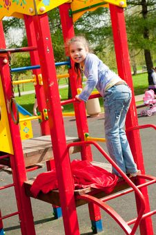 Free Girl Having Fun In Playground Stock Images - 19714154