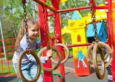 Free Girl Having Fun In Playground Royalty Free Stock Photography - 19714167