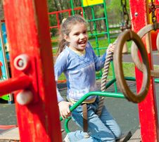 Free Girl Having Fun In Playground Stock Photography - 19714182