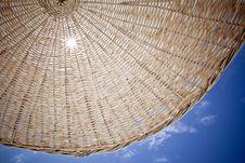 Free Straw Beach Umbrella. Royalty Free Stock Photos - 19714788