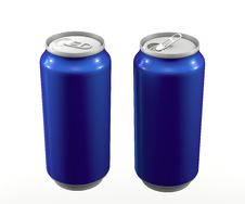 Free Cans Blue Royalty Free Stock Images - 19714939