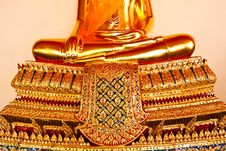 Golden Buddha  The Art Of Temple Royalty Free Stock Photo