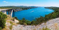 River Krka And Bridge In Croatia Stock Photography
