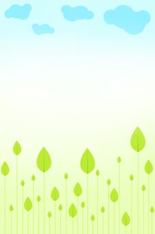 Free Green Leaves Background Royalty Free Stock Photos - 19715338