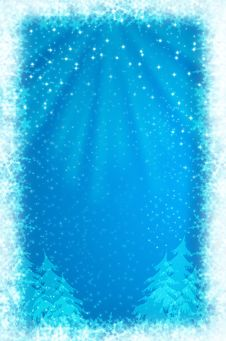 Free Christmas Background With White Snowflakes Royalty Free Stock Images - 19715379