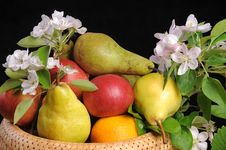 Free Fruit And Flowers. Royalty Free Stock Images - 19715749