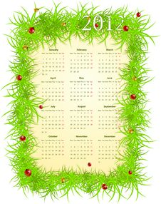 Free Vector Illustration Of Spring 2012 Calendar Stock Image - 19715771