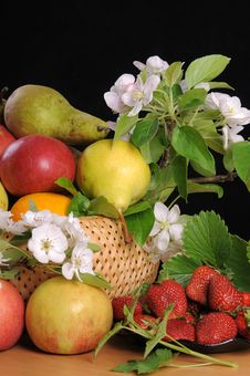Free Fruit And Flowers. Stock Photography - 19715842
