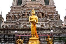 Free Gold Buddha In Wat Arun, Bangkok, Thailand Stock Images - 19715944