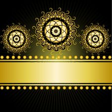 Free gilded Border On A Black Background Royalty Free Stock Photography - 19716187
