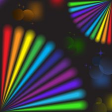 Free Rainbow Elements In The Black Royalty Free Stock Photos - 19716248