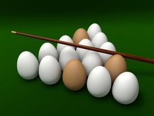 Free Eggs On The Table For Billiards Stock Image - 19716331