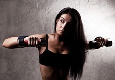 Free Woman With Dumbbells Royalty Free Stock Photography - 19716357