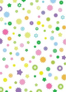 Free Star Colorful Royalty Free Stock Photo - 19716445