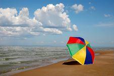 Free Umbrella On Seaside Royalty Free Stock Image - 19718136