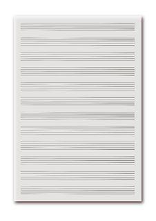 Free Blank Music Sheet Royalty Free Stock Image - 19718486