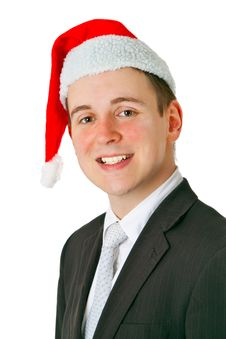 Free Businessman With Chrismas Hat Stock Photo - 19718520
