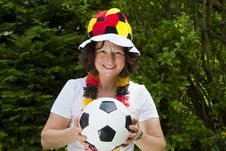 Free Female Soccer Fan Royalty Free Stock Photo - 19718595
