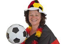 Free Female Soccer Fans Stock Image - 19718651