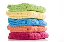Free Colorful Towels On A White Background Stock Photos - 19719043