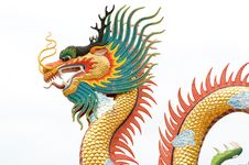 Free Chinese Dragon Statue Royalty Free Stock Photos - 19719498