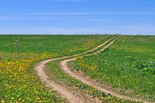 Free Country Dirt Road In The Field Stock Image - 19719761
