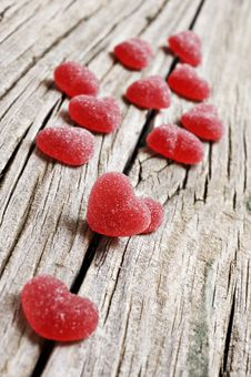 Free Red Heart Shaped Jelly Sweets Stock Photography - 19719942