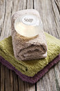 Free Fresh Towels On A Rustic Wooden Surface Stock Photo - 19720950
