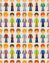 Free Seamless Young Boy Pattern Stock Images - 19727774
